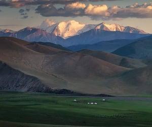 cloud, landscape, and mongolia image