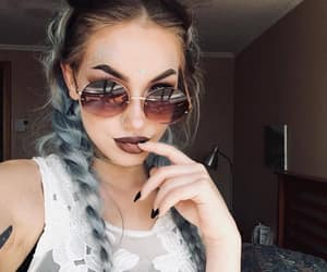 glitter, hair, and hairstyle image