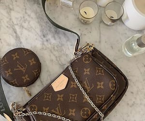 bag, candle, and Louis Vuitton image