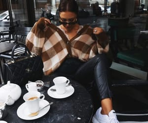 blogger, coffee, and street style image