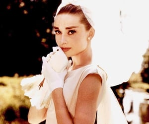 audrey hepburn, white, and dress image