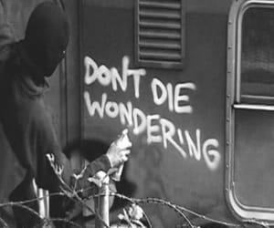 b&w, black and white, and grafitti image