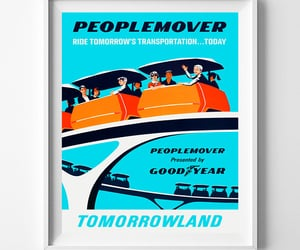 etsy, disneyland poster, and disneywallposter image