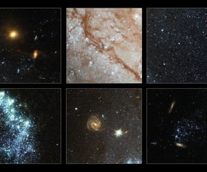 hubble, star cluster, and blue stars image