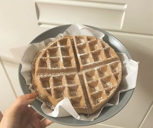 food, waffles, and aesthetic image