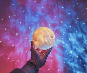 bokeh, galaxy, and lights image