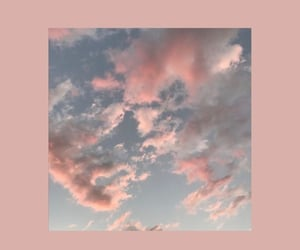 wallpaper, pink, and clouds image