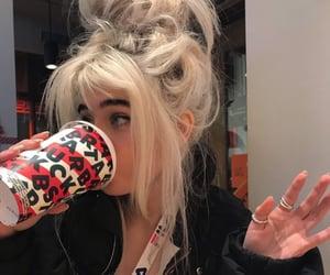 aesthetic, bangs, and coffee image