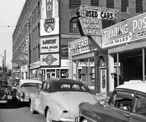 black and white, cars, and vintage image