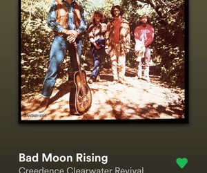 bad moon rising, music, and playlist image