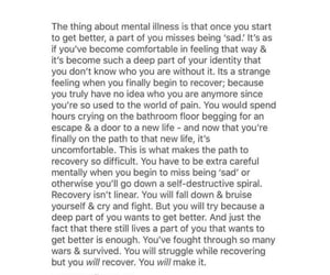mental illness, quotes, and recovery image