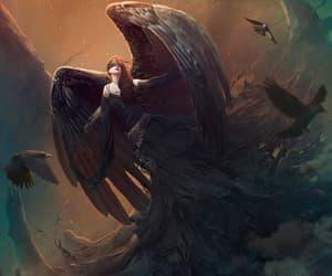 angel, beauty, and dark image
