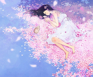 anime, flowers, and art image