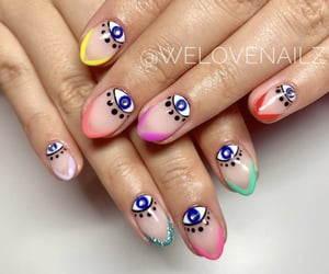 beauty, colorful, and long nails image