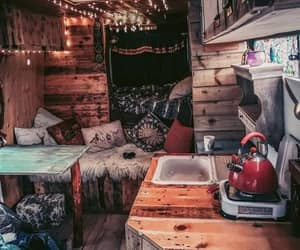 cabin, cozy, and forest house image