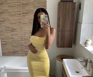 fashion, yellow, and dress image