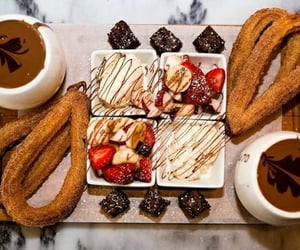 candy, chocolate, and churros image