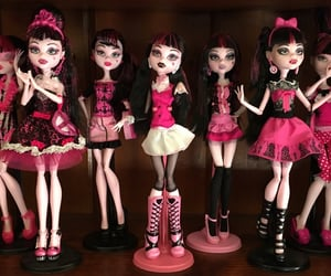 monster high, pink, and draculaura image