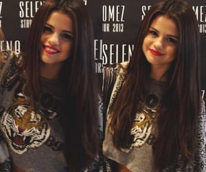 red lips, selena gomez, and tour image