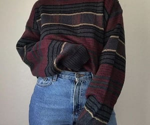 sweater, grunge, and jeans image