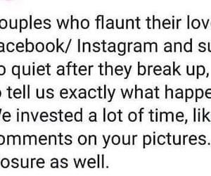 break up, couple, and funny image
