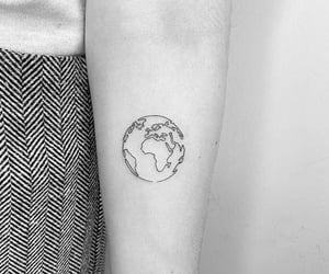 black and white, globe, and inspiration image