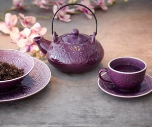 tea, purple, and cup image