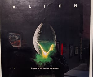 alien, green, and museum image