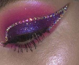 beauty, diamonds, and eyeshadow image