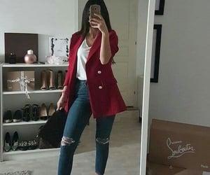 bag, cardigan, and fashion image