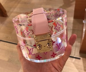 LV, pink, and purse image