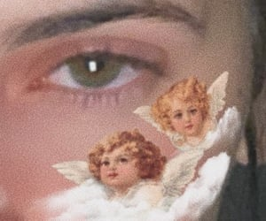 angel, green eyes, and heaven image