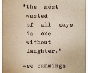 cummings, laughter, and quote image