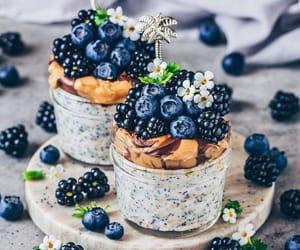 blackberries, blueberries, and vegan image
