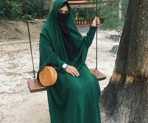 bags, hijab, and niqab image