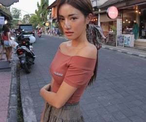 asian, model, and skirt image