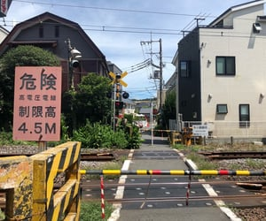 japan, kamakura, and railway image