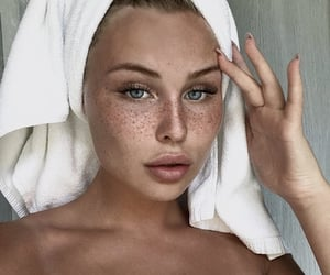 beautiful, girl, and freckles image