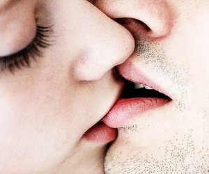 couple, kiss, and tender image