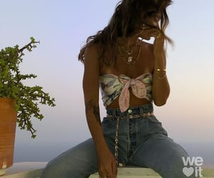 accessories, clevage, and gold chains image