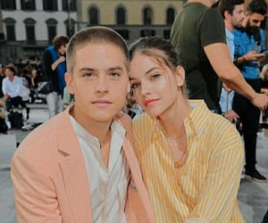 couple, barbara palvin, and model image