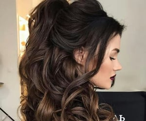 black, glam, and hairstyles image