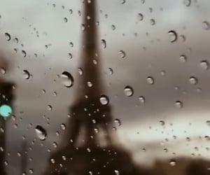 autumn, paris, and rain image