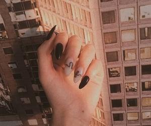 black and nails image