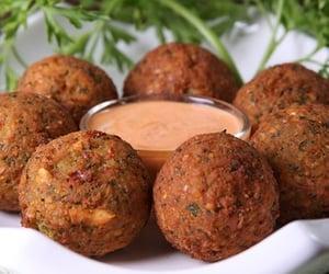 falafel, vegan, and vegan food image