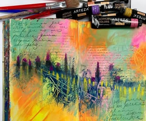 artwork, paints, and artjournaling image