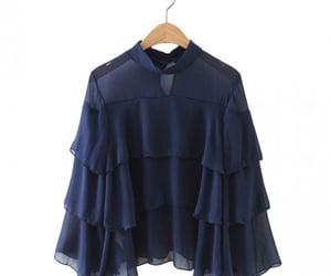 blouse, blue, and boho image