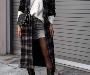 blogger, street style, and jeans skirt image