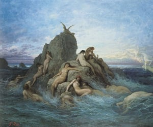 art, mermaid, and gustave dore image