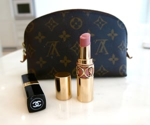 chanel, lipstick, and Louis Vuitton image